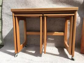 Mid Century McIntosh extendable Nest of tables