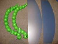 Two Hungry Caterpillar style Novelty Bracket and Blue laminated shelves