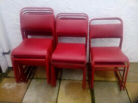 Vintage stacking chairs retro / industrial