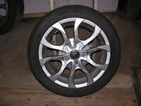 16'' ALLOY WHEELS + TYRES TO FIT RENAULT, VW, VAUXHALL 4 STUD IN GREAT CONDITION.