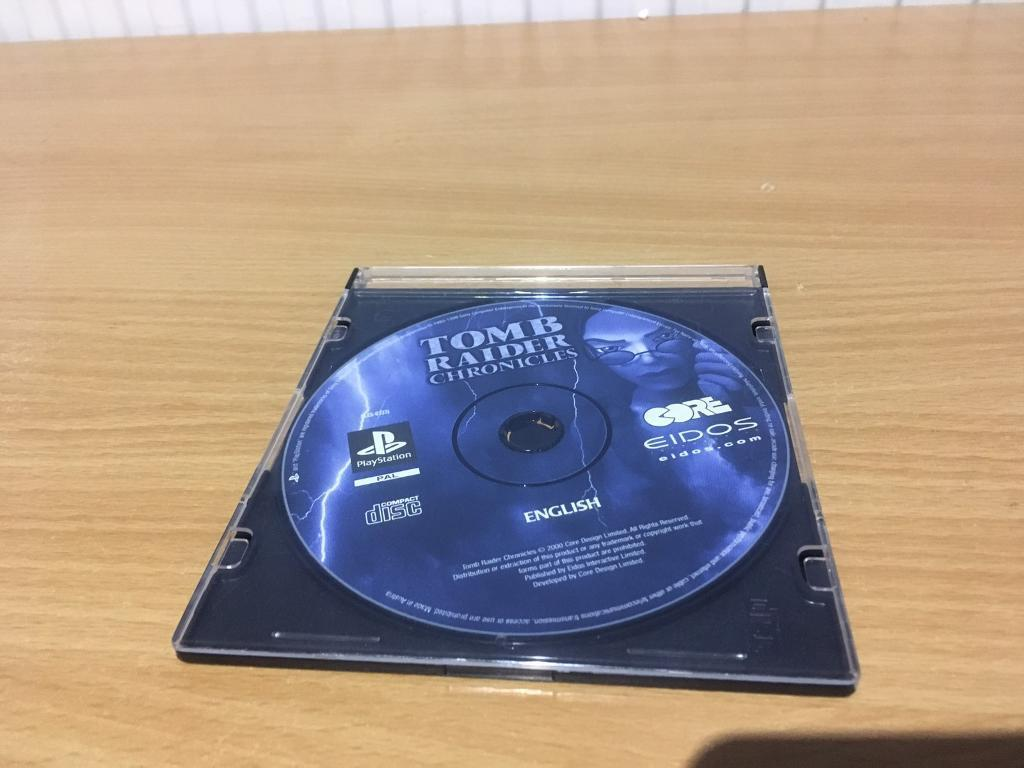TOMB RAIDER CHRONICLES PLAYSTATION 1 DISC ONLY