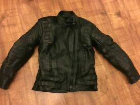 Motorbike ladies leather jacket size XS