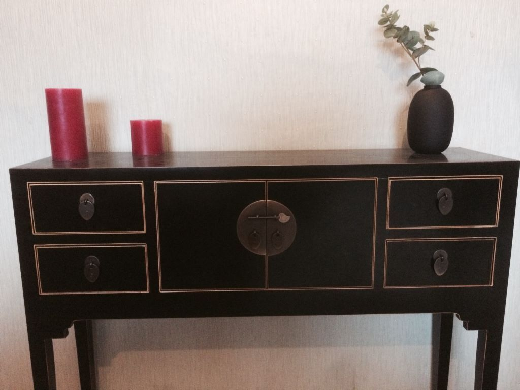 John lewis vintage style suri chinese black console table in john lewis vintage style suri chinese black console table geotapseo Image collections