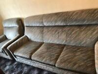 Retro Parker Knoll 3 seater sofa & Armchair