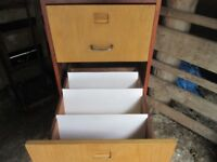 Two Tone Wooden Filing Cabinet