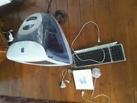 Apple iMac G3 Power PC 750 desktop slate grey.