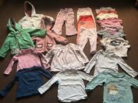 Bundle of girls clothes 12-18 months (24 items)