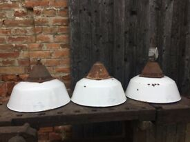 3x Industrial Factory Hungarian Pendant Large Lamps Lighting Kitchen Cafe