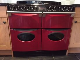 Aga range gas cooker and extractor