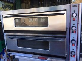 CATERING COMMERCIAL PIZZA OVEN 2 DECK CATERING COMMERCIAL CAFE RESTAURANT KEBAB CHICKEN TAKE AWAY