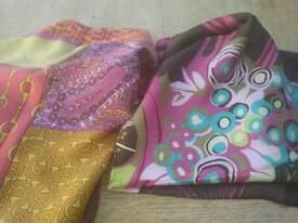 2 large silk scarves