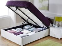 Brand New Double White Ottoman Storage Bed
