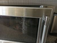 EXCELLENT CONDITION STAINLESS STEEL MICROWAVE.