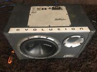 10 inch vibe cbr subwoofer with built in amp - 1200 watts