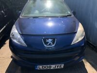 2008 Peugeot 207 S 3dr 1.4 Petrol Blue BREAKING FOR SPARES