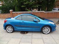 Peugot 207cc Convertible 1.6L 16v GT 2dr Excellent condition £3000,Open to offers,Low Mileage 38074m