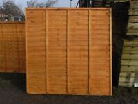 Timber fence panel 6'x6'