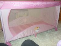Travel cot Hauck Disney Princess Pink Dream and Play