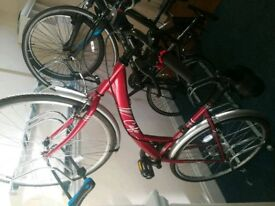 Red Apollo bike hybrid