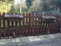 Near New 6ft x 4ft Picket Fence Panels