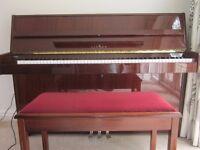 Linden Upright Piano, Mahogany finish