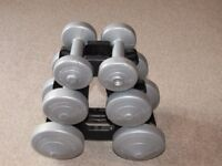6 x Dumbbells with stand