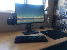 Gaming Pc + 144hz moniter + Gaming keyboard & Mouse+ Mousemat. (***O.N.O***)