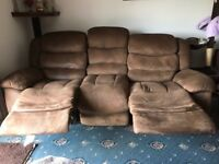 Leather electric reclining sofa's