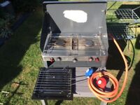 For sale camping cooker with grill and gas bottle attachments