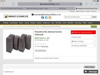 66 Pavedrive KL internal corner bricks for block paving Charcoal. RRP £476. Bargain £200. From