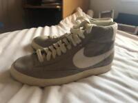 Grey Nike high top blazers