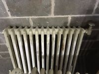 2 x Vintage Cast Iron Radiators