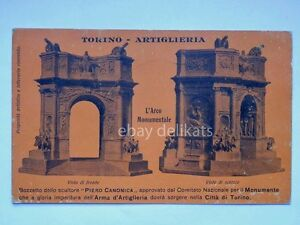 ARTIGLIERIA-TORINO-Monumento-Arma-vecchia-cartolina