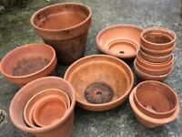 SELECTION OF TERRACOTTA POTS