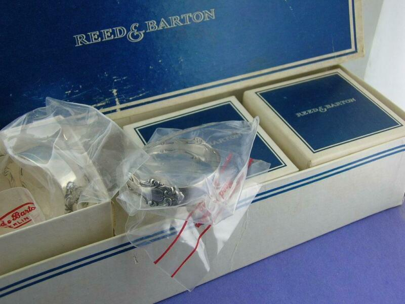 6 Sterling REED & BARTON Napkin Rings GRANDE RENAISSANCE mint in wrappers & box