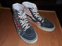 Vans shoes stars and stripes design