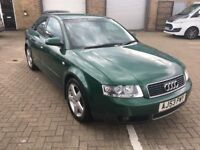 2003 A4 2.0 Petrol...FSH inc Cambelt...October MOT...Only 78,000 Miles...Lovely Car...P/X Considered