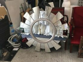 Sun Burst Mirror - Decorative - Unusual - Lounge - Bedroom - Garden