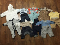 Baby boys clothing bundle 0 - 3,3-6months