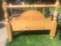 Huge chunky antique pine headboard