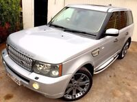 **STUNNER** 2007 RANGE ROVER SPORT HSE TDV6 SILVER 2.7 DIESEL AUTOMATIC AUTO LAND 4X4 SUV