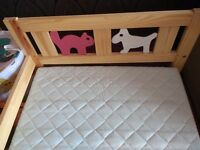 Bed frame, pine, 70x160 cm Very good condition.