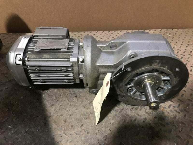 Sew-Eurodrive KF47DRS71M4DH 0.75HP Gear Drive/Speed Reducer 16RPM 104.37:1 3PH