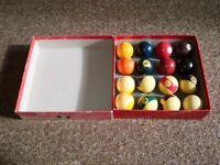 Full set of professional pool balls