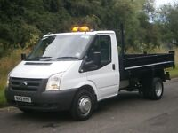 2012(12) FORD TRANSIT T350 MWB Euro5 DROPSIDE TIPPER, LOW MILES, FSH, EXCELLENT CONDITION, FINANCE??