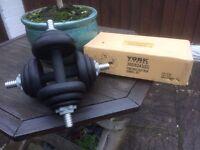 York Fitness Cast Iron Dumbbell Set - 20kg