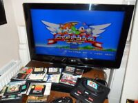 "Console Games Joblot 32"" LG TV Sega Megadrive Super Nintendo SNES Gameboy Colour N64 Wii Switch Nes"