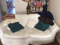 3-4 seater white Sofa