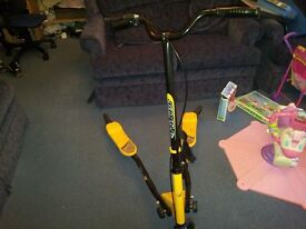 Black & Yellow Fliker Scooter