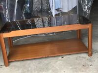 Coffee Table with smoked glass top and shelf